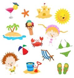 Summer Elements vector image vector image