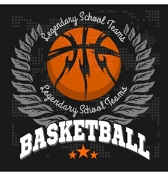 Basketball emblem for T-shirts Posters Banners vector image