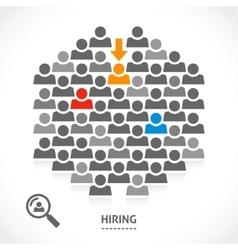 Concept of hiring new vacancy vector image vector image
