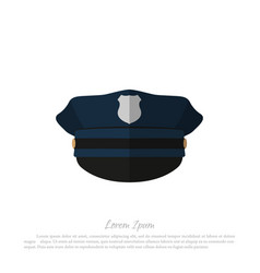 police cap icon of policeman hat vector image