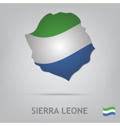 sierra leone vector image vector image