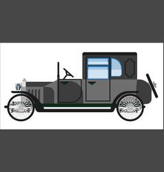 vintage gray car vector image vector image