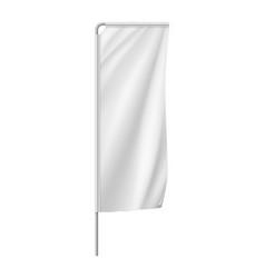 white vertical medium banner streamer template vector image