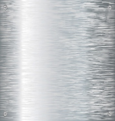 brushed silver vector image vector image
