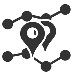 Geo markers trends flat icon vector