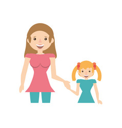 mother and her child image vector image vector image