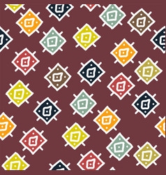 abstract background with seamless african pattern vector image vector image
