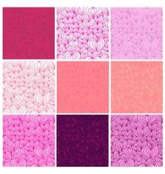 Big set of Valentine seamless patterns vector image vector image
