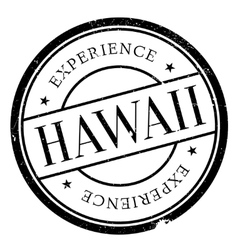 Hawaii stamp rubber grunge vector
