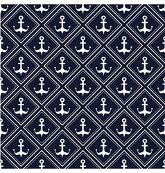 Nautical pattern with anchors vector