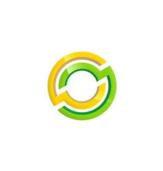 round technology shape color logo vector image vector image