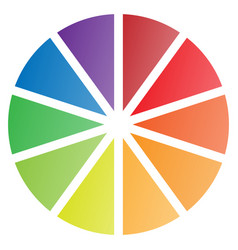10 piece pie chart vector image