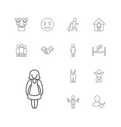 13 people icons vector