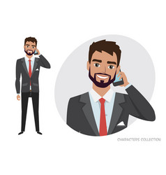 A man is talking on the phone vector