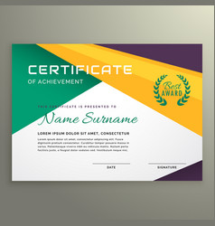 abstract geometric certificate of achievement vector image