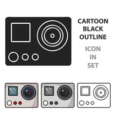 action camera icon in cartoon style isolated on vector image