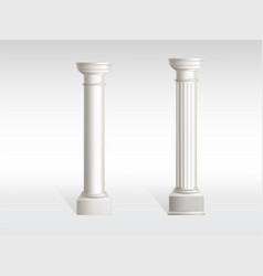 ancient columns white marble realistic vector image