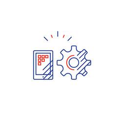 App development tech solution concept mobile vector
