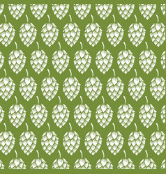 background pattern with hops vector image