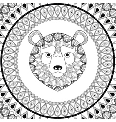 Bear icon Animal and Ornamental predator design vector image