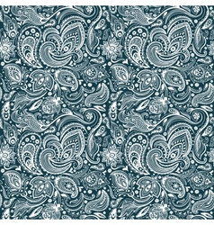 beautiful paisley seamless vector image