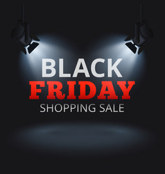 black friday shopping sale background vector image