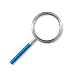 Blue Magnifying Glass Zoom Tool vector image