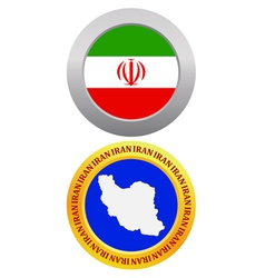 button as a symbol IRAN vector image