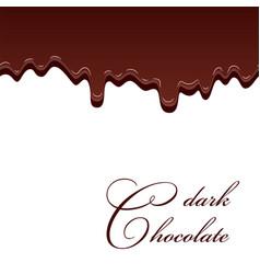 chocolate seamless pattern drip dark chocolate vector image