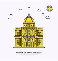 Church santa engrccia monument poster template vector