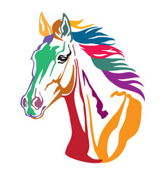 Colorful decorative horse 8 vector
