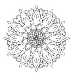 coloring book page round decorative ethnic motif vector image