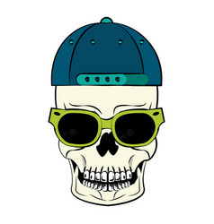 Cool skull cartoon vector