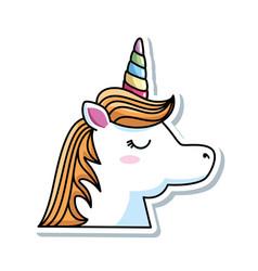 Cute fantasy unicorn character vector