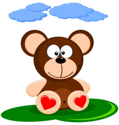 Cute Of Brown Cartoon Bear vector image
