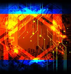 Cyber tech circuit board vector