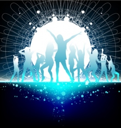 dancing women vector image