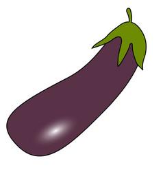 Eggplant icon icon sign purple vegetable vector