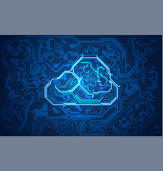 electronic cloud vector image