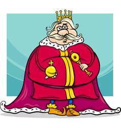 Fat king cartoon fantasy character vector
