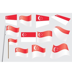 flag of Singapore vector image