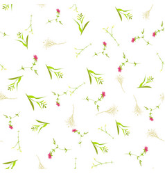 floral pattern in scandinavian style vector image