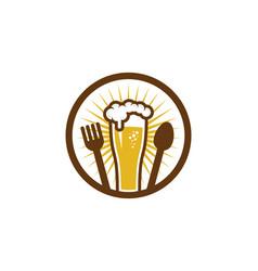 food beer logo icon design vector image