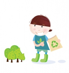 forest recycle icon vector image