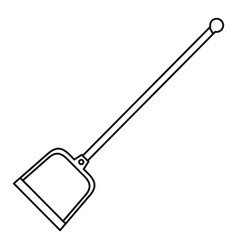 Garden shovel icon outline style vector