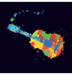 Guitar splash vector image