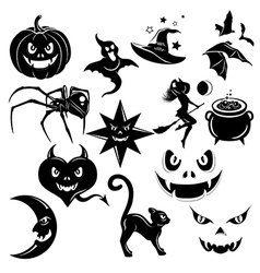 Halloween decorative elements set vector