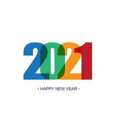 happy new year 2021 background brochure design vector image