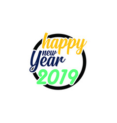 happy new year logo banner vector image