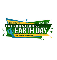 international earth day banner design vector image